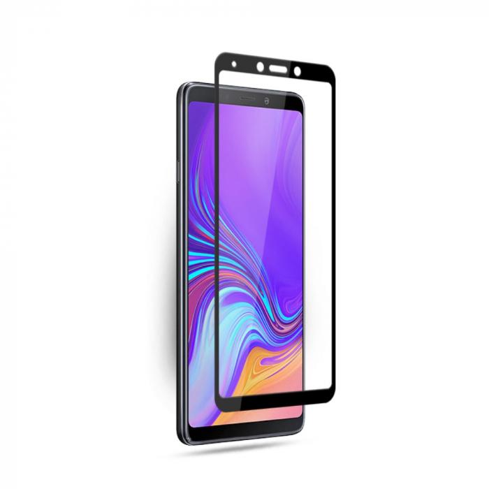 Folie sticla 9D Samsung A7 (2018) - negru [0]