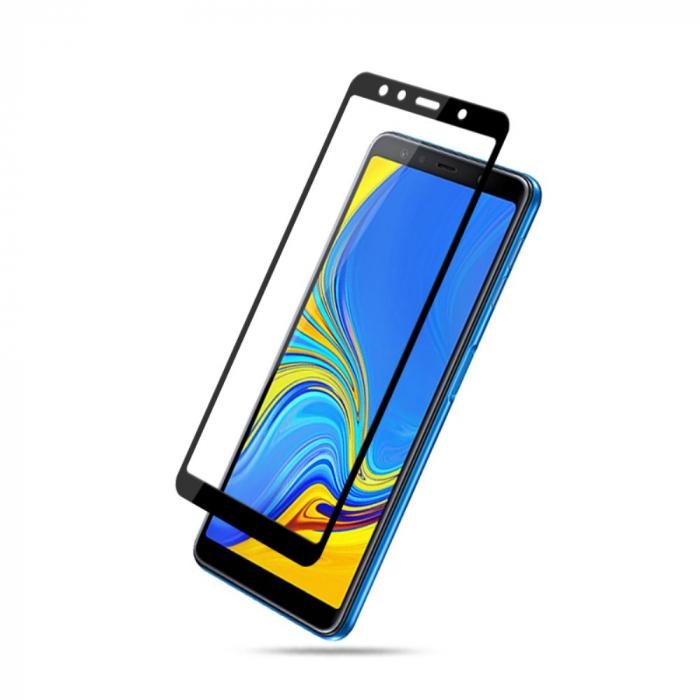 Folie sticla 9D Samsung A7 (2018) - negru [3]