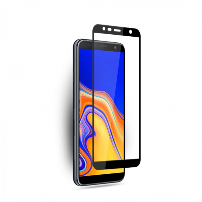 Folie sticla 9D Samsung J4 plus/ J6 plus- negru 0