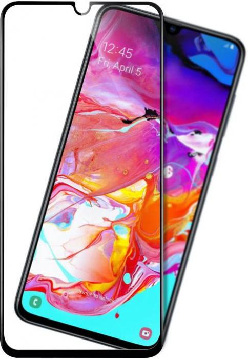 Folie sticla 9D Samsung A70 - negru 0