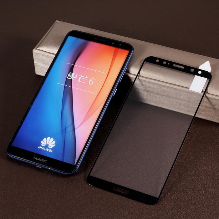 Folie sticla 5D Huawei Mate 10 Lite - negru 0