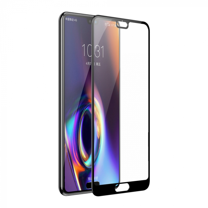 Folie sticla 5D Huawei P20 - Negru [0]