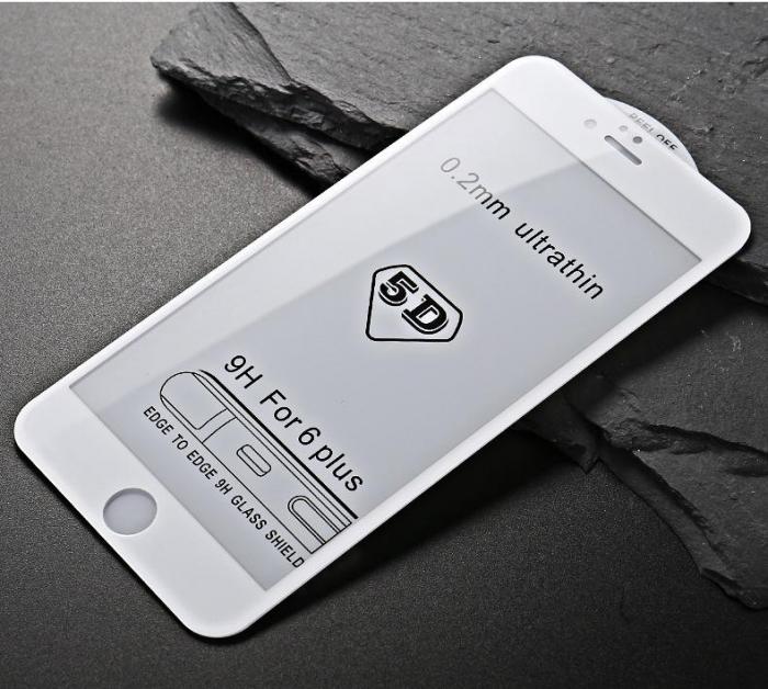 Folie sticla 5D Iphone 7/8 - Alb 0