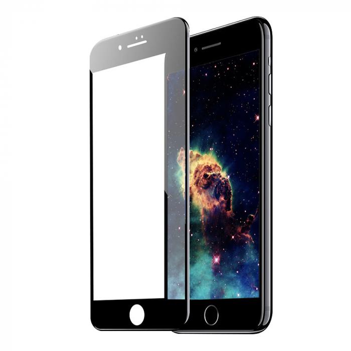 Folie sticla 5D Iphone 7/8 - Negru [0]