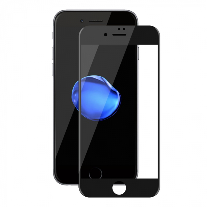 Folie sticla 5D Iphone 7/8 plus - Negru 0