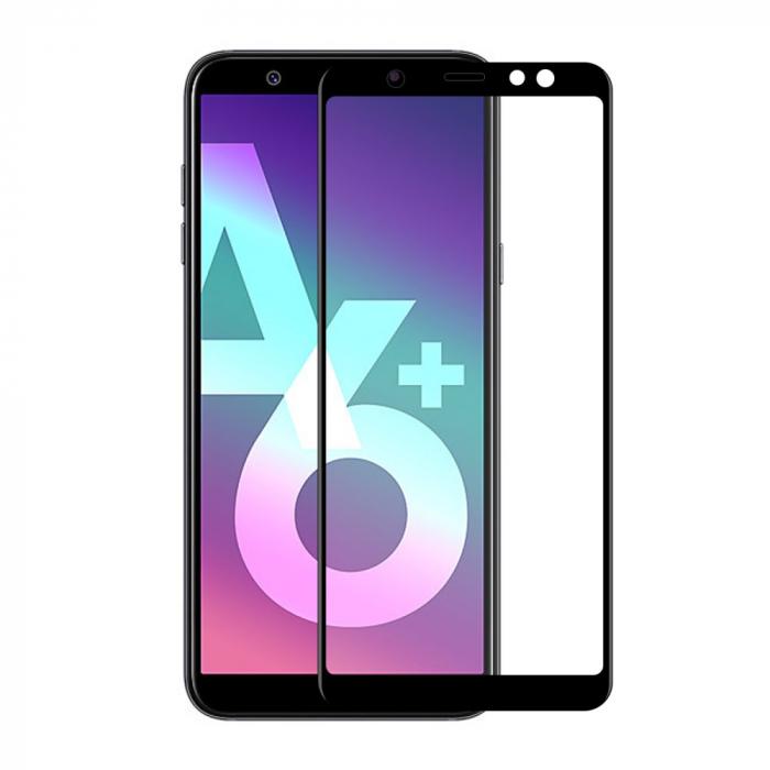 Folie sticla 5D Samsung A6 plus (2018) - negru 1