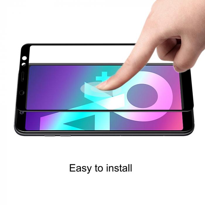 Folie sticla 5D Samsung A6 plus (2018) - negru 3