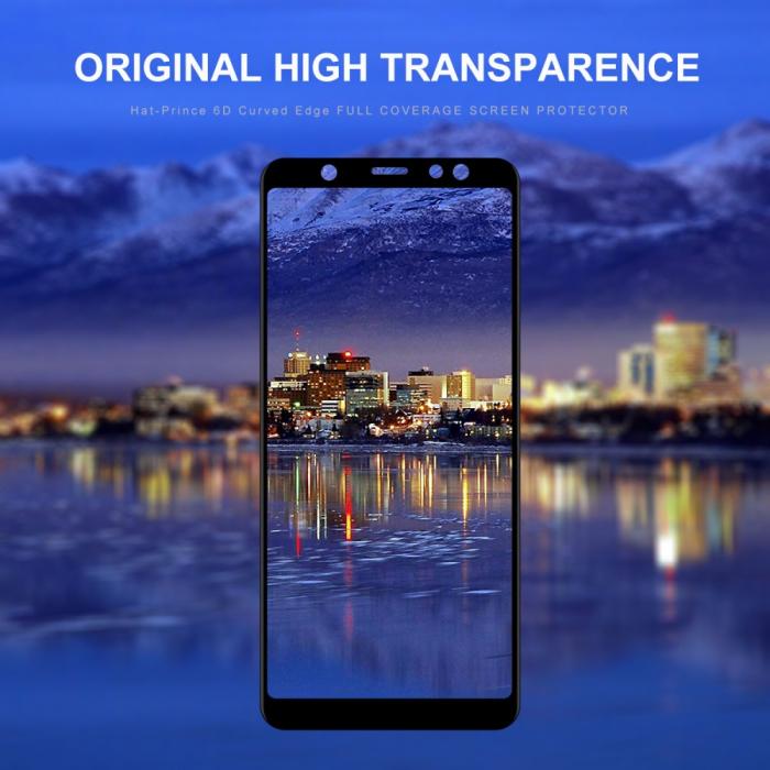 Folie sticla 5D Samsung A6 plus (2018) - negru 0