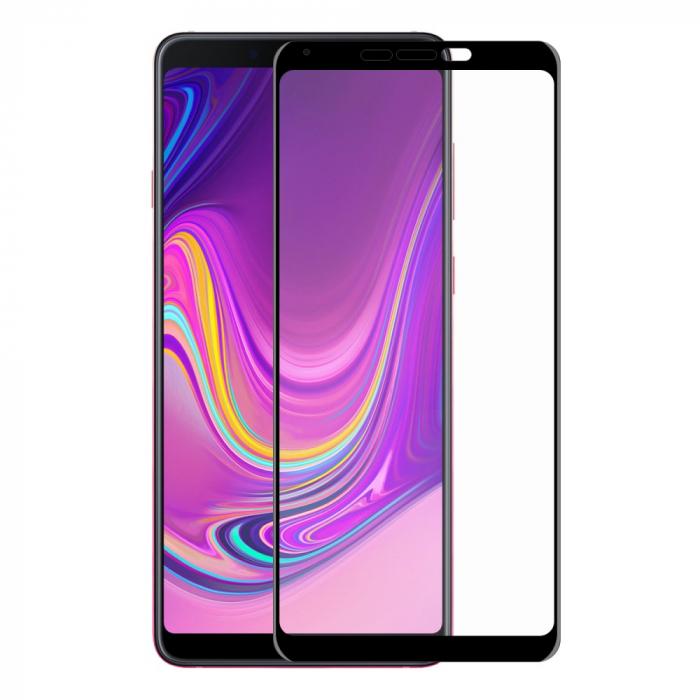Folie sticla 5D Samsung A9 (2018) - negru 0