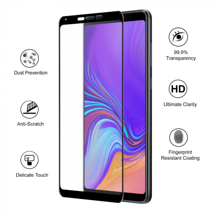 Folie sticla 5D Samsung A9 (2018) - negru 1