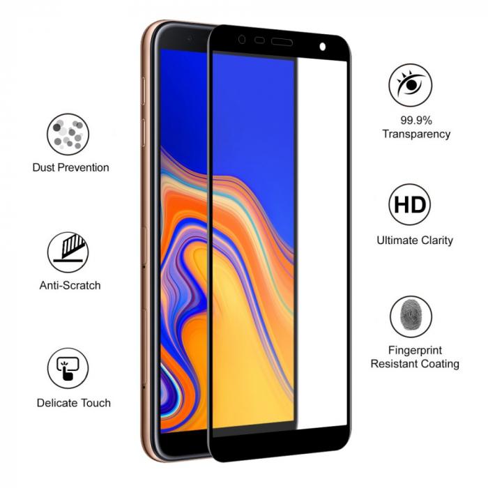 Folie sticla 5D Samsung J4 plus - negru 1