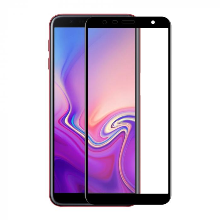 Folie sticla 5D Samsung J4 plus - negru 0