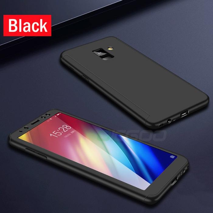 Husa 360 cu sticla inclusa Samsung A6 (2018), Negru 0