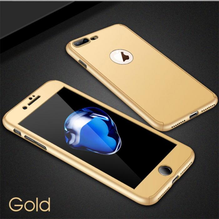 Husa 360 cu sticla inclusa Iphone X/Xs - Gold 0