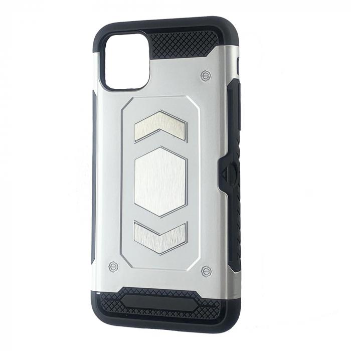 Husa armura auto Iphone 11 Pro Max - Silver 0