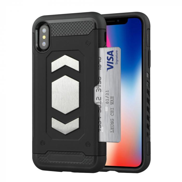 Husa armura auto Iphone X/Xs - Negru 0