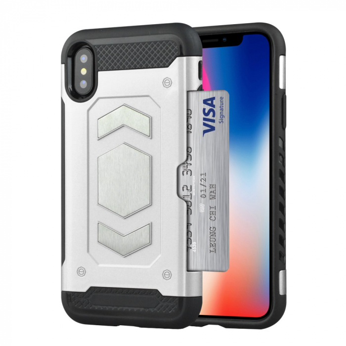 Husa armura auto Iphone Xs Max -Silver [0]