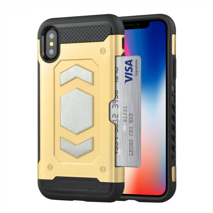 Husa armura auto Iphone Xs Max - Gold [0]