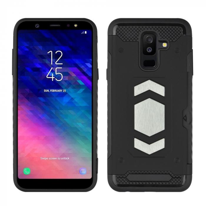Husa armura auto Samsung A6 plus (2018)  - Negru 0