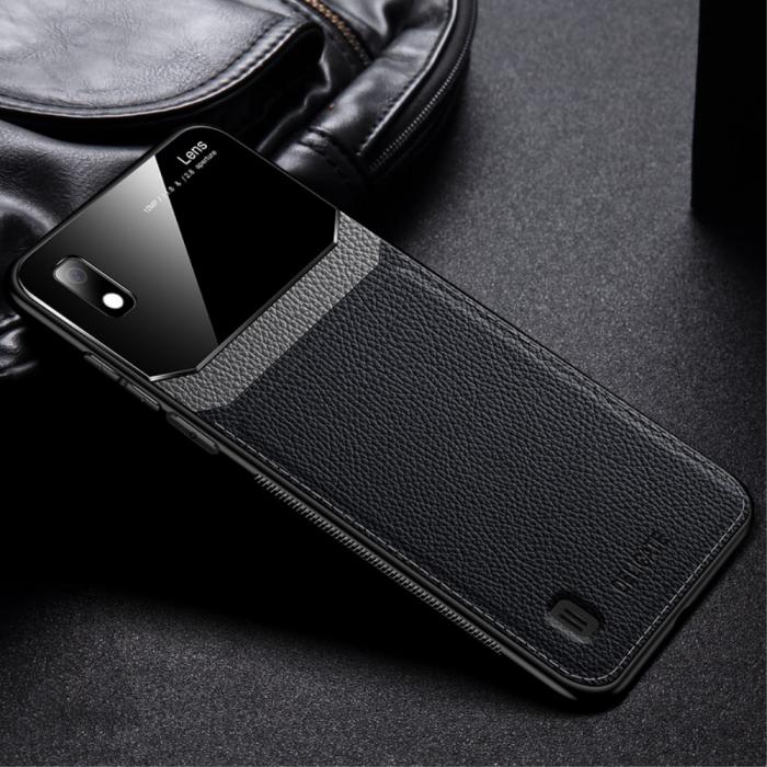 Husa silicon si sticla Samsung A10 - Negru 0