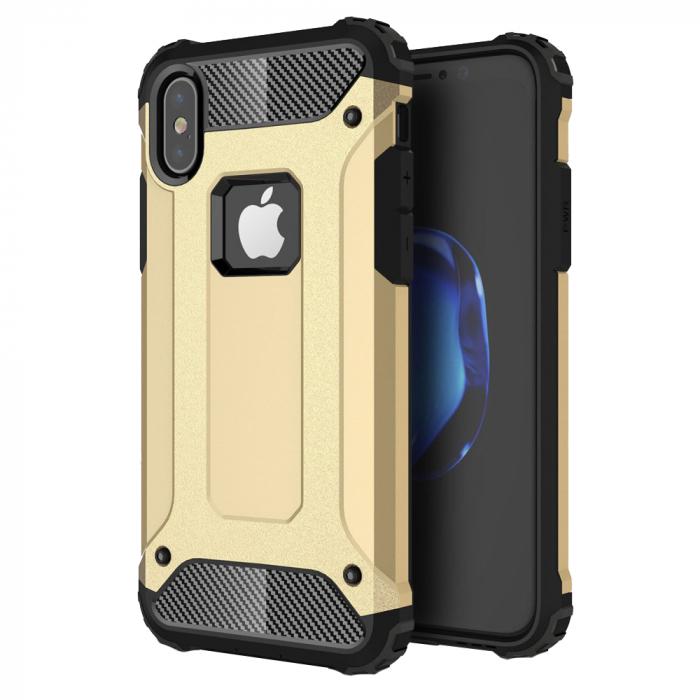 Husa armura strong Iphone X/Xs, Gold 0