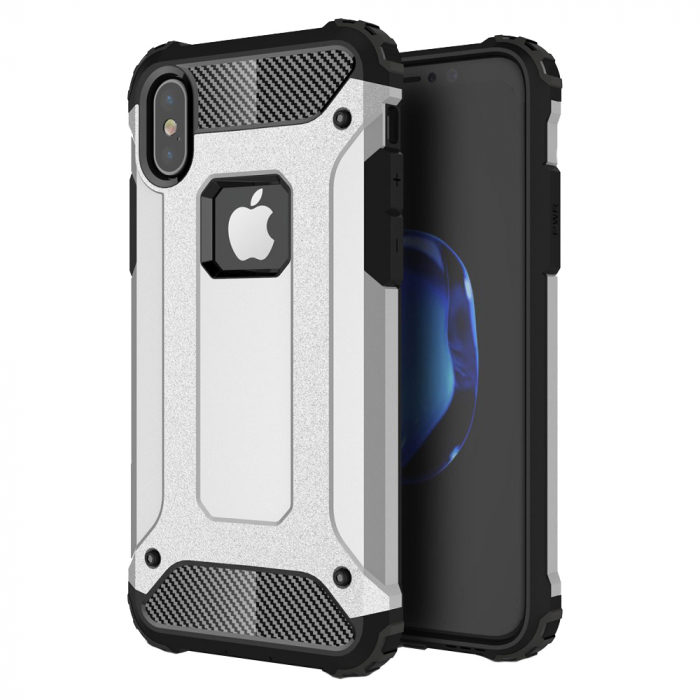 Husa armura strong Iphone X/Xs, Silver [0]