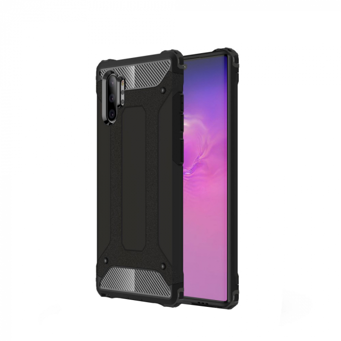 Husa armura strong Samsung Note 10 Plus - negru 0