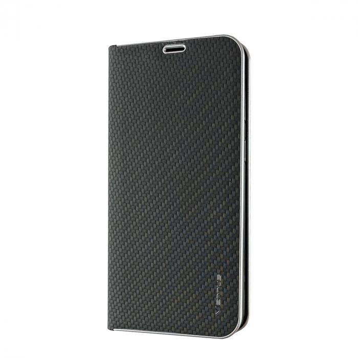 Husa carte Venus carbon Samsung A10 - negru [0]