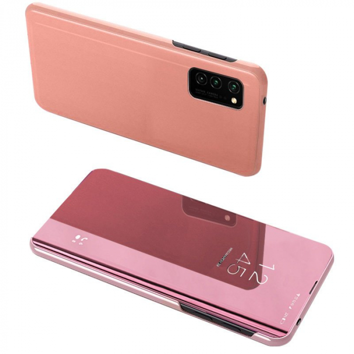Husa clear view Samsung A02s, Rose 0