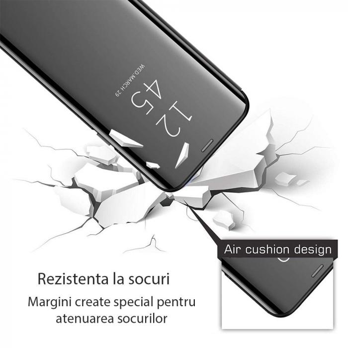 Husa clear view Samsung A10, Negru [1]