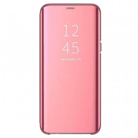 Husa clear view Samsung A50, Rose 0