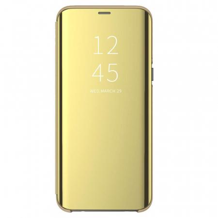 Husa clear view Samsung A50, Gold [0]