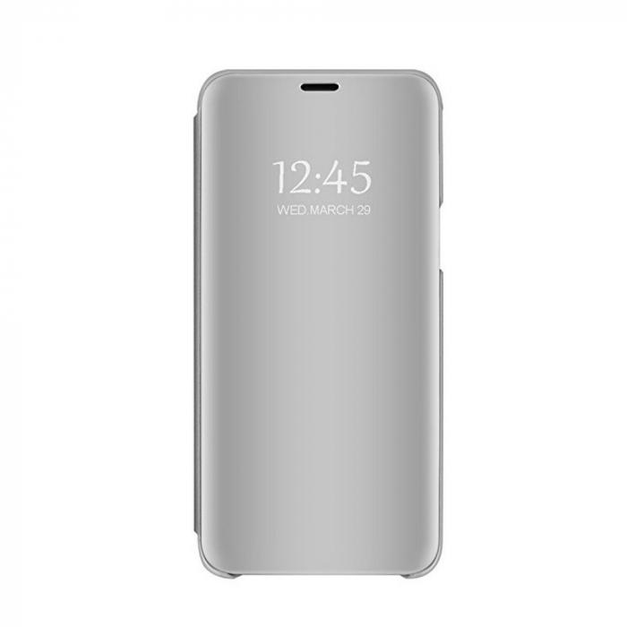 Husa clear view Samsung A6 plus (2018), Silver 3