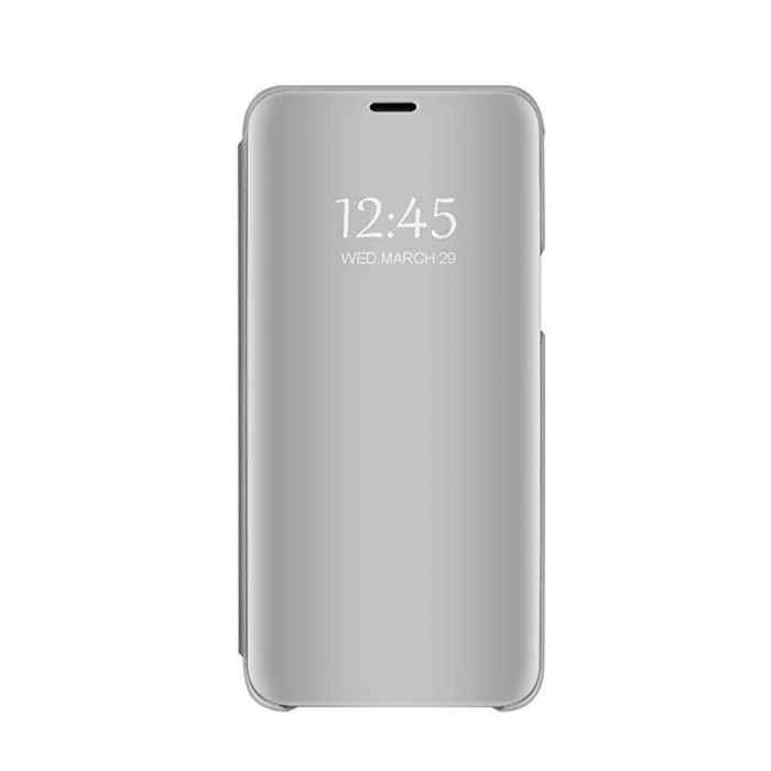 Husa clear view Samsung S9 plus, Silver 3