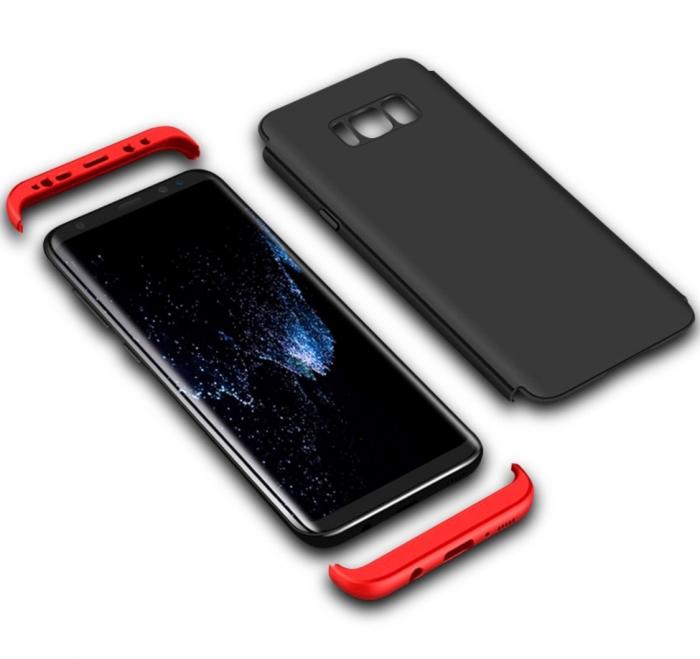 Husa GKK Samsung S7 Edge - Negru cu rosu 0
