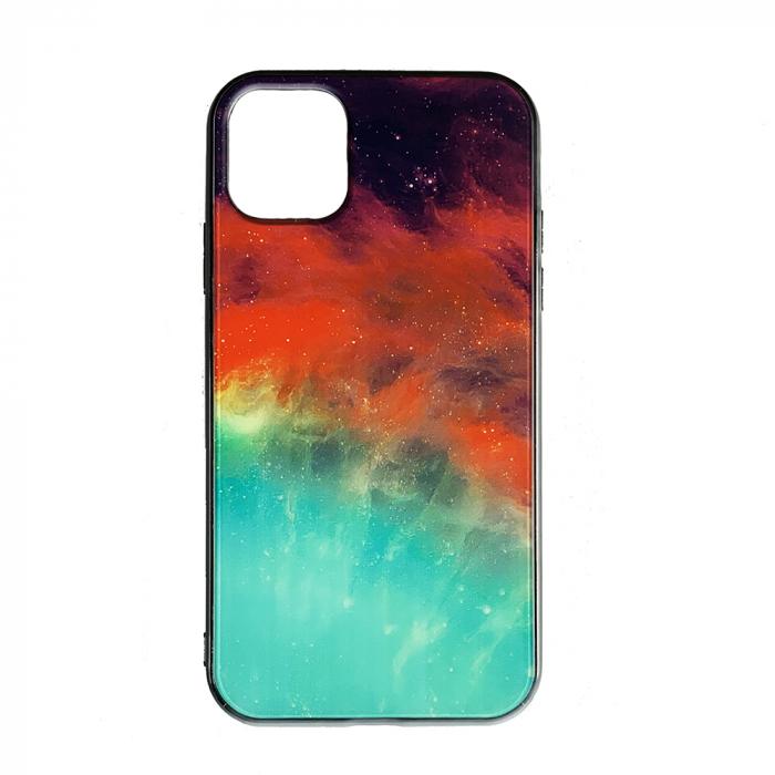 Husa Iphone 11 pro max silicon cu sticla galaxie 0