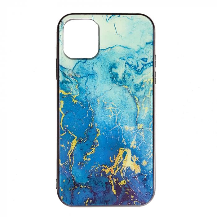 Husa Iphone 11 pro max silicon cu sticla marmura 0