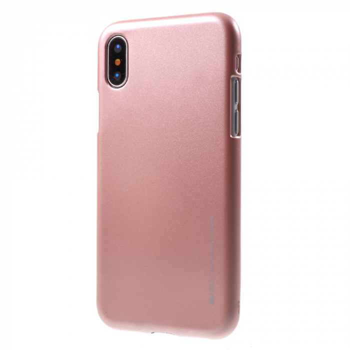 Husa silicon metal I-Jelly Iphone Xs Max - Rose 0