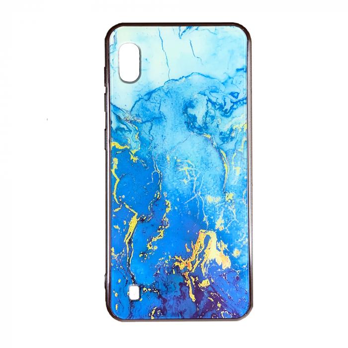 Husa Samsung A10 silicon cu sticla marmura 0