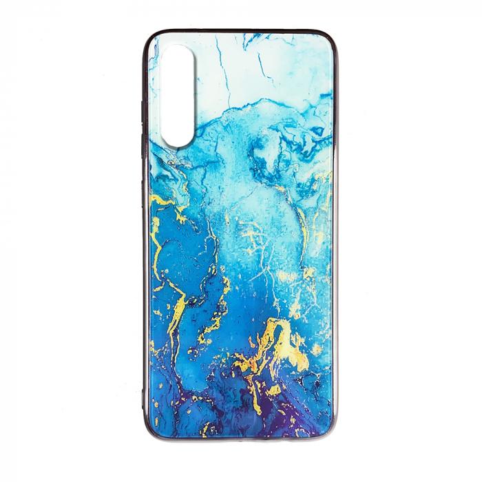 Husa Samsung A70 silicon cu sticla marmura 0