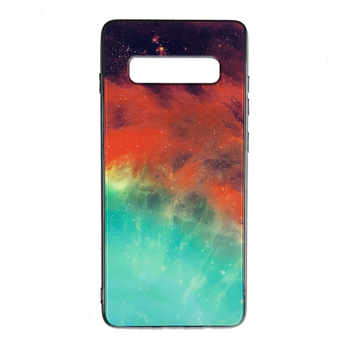 Husa Samsung S10 Plus silicon cu sticla galaxie 0