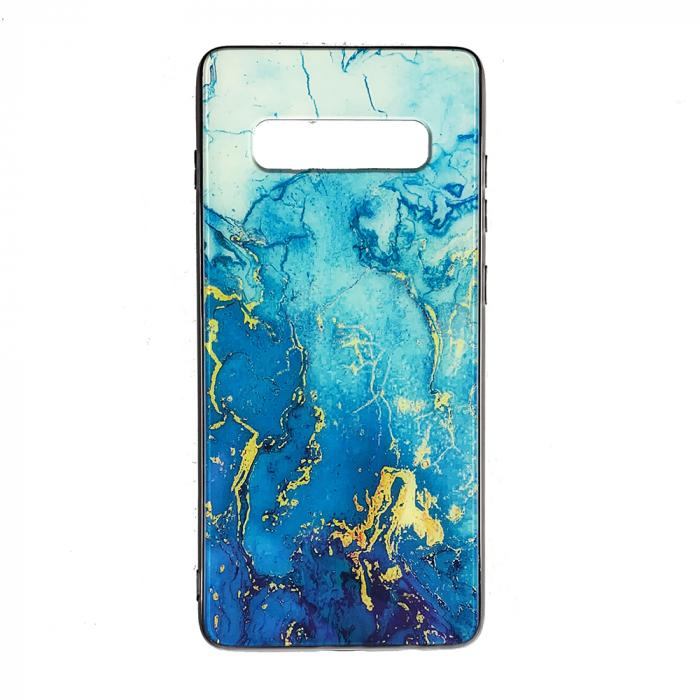 Husa Samsung S10 Plus silicon cu sticla marmura [0]