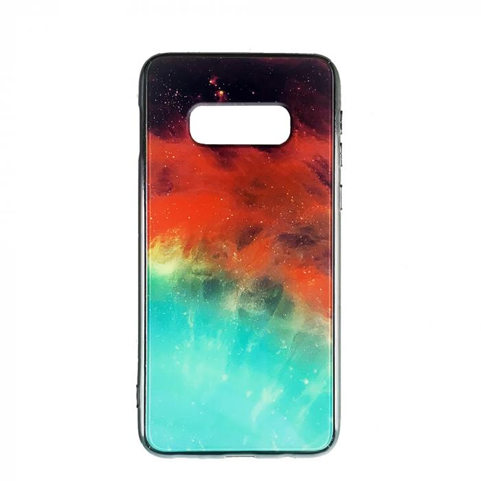 Husa Samsung S10e silicon cu sticla galaxie 0