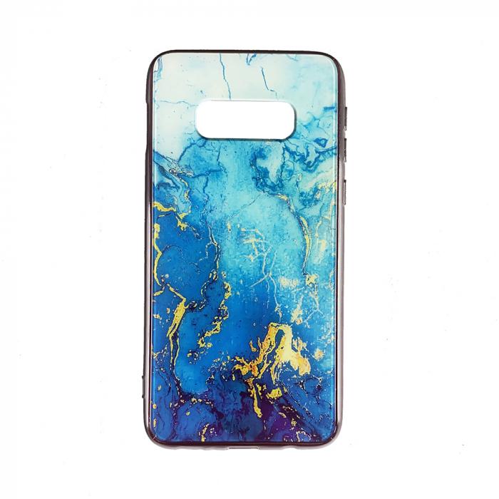 Husa Samsung S10e silicon cu sticla marmura 0