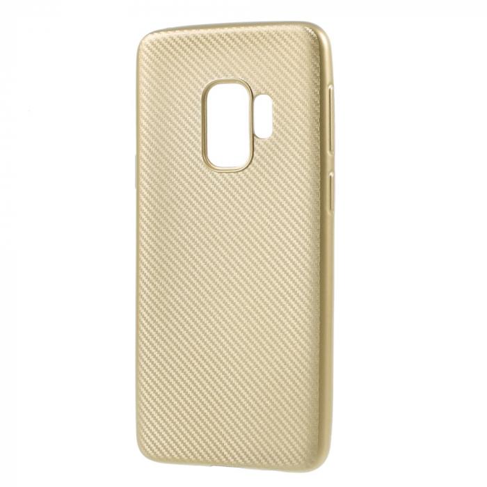 Husa Samsung S9 silicon carbon gold 0