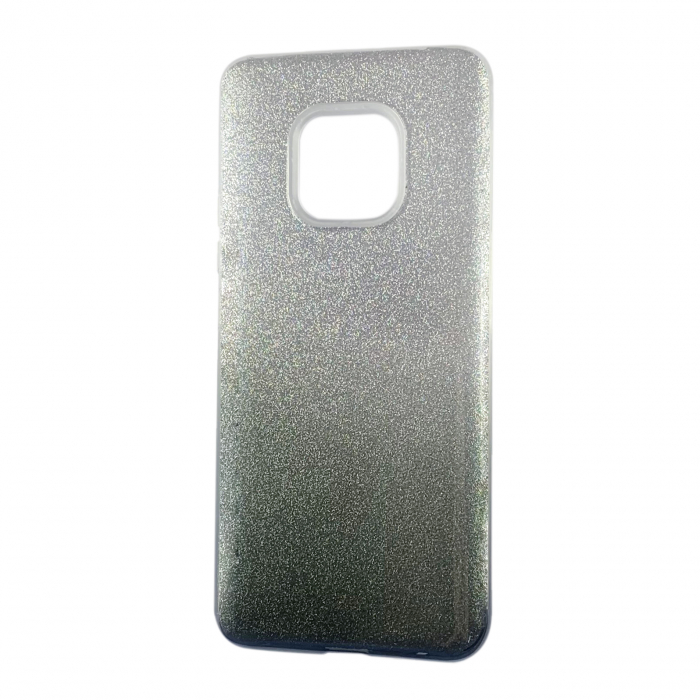 Husa silicon 3 in 1 cu sclipici degrade Huawei Mate 20 Pro - Negru [0]