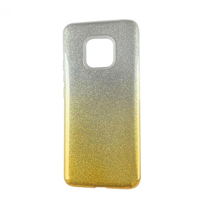 Husa silicon 3 in 1 cu sclipici degrade Huawei Mate 20 Pro -Gold 0