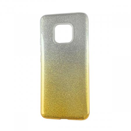 Husa silicon 3 in 1 cu sclipici degrade Huawei P20 - Gold [0]