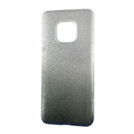 Husa silicon 3 in 1 cu sclipici degrade Huawei P30 -Negru 0