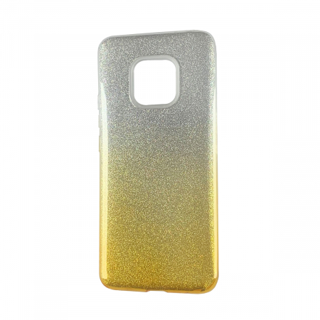Husa silicon 3 in 1 cu sclipici degrade Samsung A10 -Gold 0